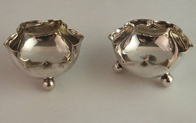 Pretty Pair Of Silver Plated Salts