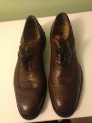 H London Mens Brown leather brogues size