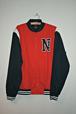Nike Players Jacket Mens XL Red/Navy/White Full Zip Jacket - New