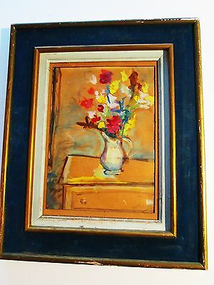 Catalano Original Oil Painting Abstract Still Life Signed  In Vintage Gilt Frame