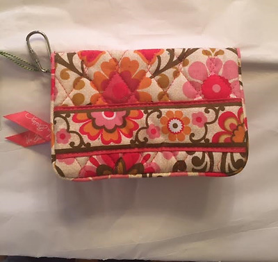 Brand New Vera Bradley Fokloric One For The Money Id Iphone Wallet Purse 4$$ Oop