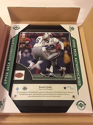 *BRAND NEW* Emmitt Smith Upper Deck Authenticated Game Used Ball 354/700 Rare!