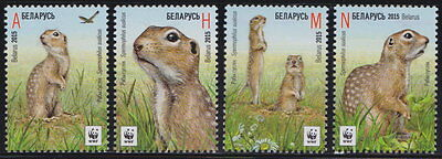 Belarus WWF - Speckled Ground Squirrel 4v  MNH 2015