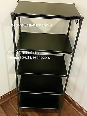 Custom Made Black Shelf Only for the Longaberger 5 Tier Rack