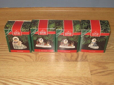 5 Hallmark Frosty Friends Ornaments 1987 1989 1991 1992