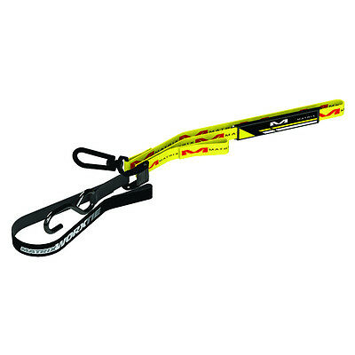 Matrix Concepts M1 1 Inch Worx Motorbike TieDowns Pair - Yellow MX Motocross Tra