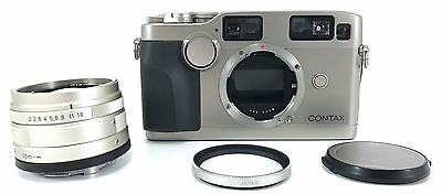 Contax G2 35mm Rangefinder Film Camera with Carl Zeiss 45mm Planar T* f/2 Lens