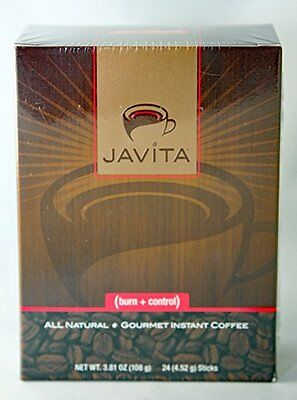 JAVITA Coffee Brand New Unopened Burn + Control 24 servings  Free Shipping