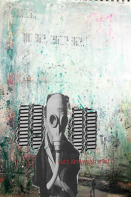 A4 print colourfull contemporary art work The Negative Space - new work signed