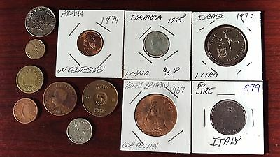 Lot of 12 Foreign Coins - Circulated