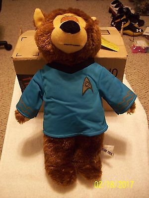 "Star Trek Mr. Spock 14"" Plush Stuffed Bear- Toy Factory- New with Tags"