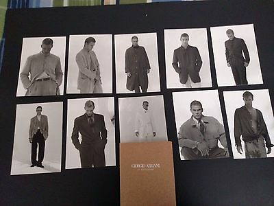 10 postcards GIORGIO ARMANI 1995 male clothing ads  Italy 4 1/2 x 6 1/2 inches