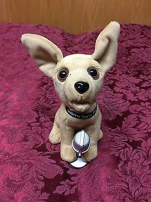 """Vintage TACO BELL Chihuahua Dog 6"""" Talking Stuffed Plush Doll with Microphone"""