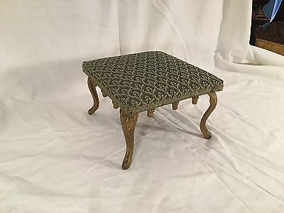 Small Ornate Antique Victorian Cast Iron Foot Stool Ottoman