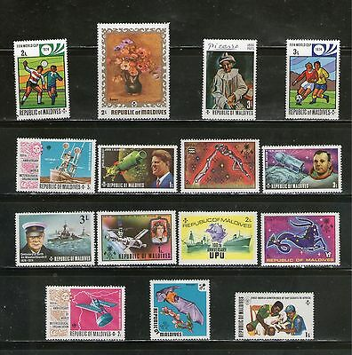 Rep. Of Maldives : 15 Diff. Large Commemo. Stamps On  Topicals, Mnh
