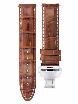 24Mm Leather Premium Watch Strap Band Clasp For Pam 44Mm Panerai L/brown Ws #7