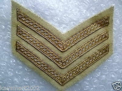 Patch- British Army Sergeant Stripes Patch (New*)