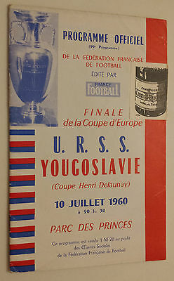 1960 EUROPEAN NATIONS CUP FINAL: USSR v YUGOSLAVIA at Parc des Princes, Paris