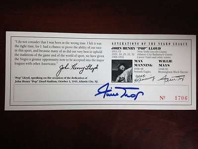 Willie Mays Autographed Commemorative Ticket