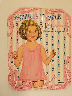 VINTAGE Paper Doll - Shirley Temple 18 Inch Standing Doll - Saalfield