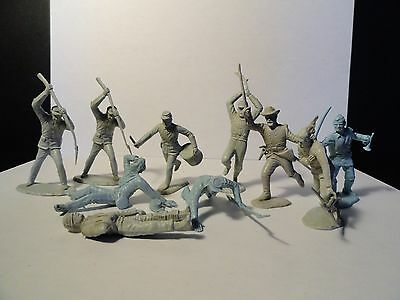 Vintage 1960's Marx Toys - Blue and Gray Centennial Soldiers X 10