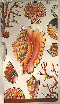 Set 2 Reef Napkins Guest Towels Nautical Ocean Sea Beach Shells Coral Decoupage