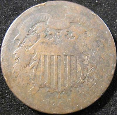 P885 - 1864 - Us - Two Cent Coin - Nr