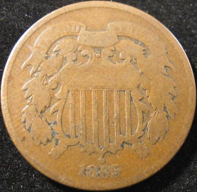 P880 - 1865 - Us - Two Cent Coin - Nr