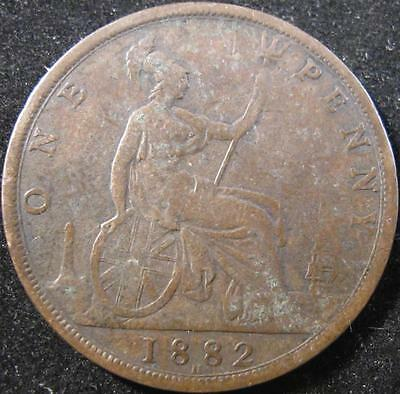 Gb20 - 1882 - Great Britain - One Penny Coin - Nr