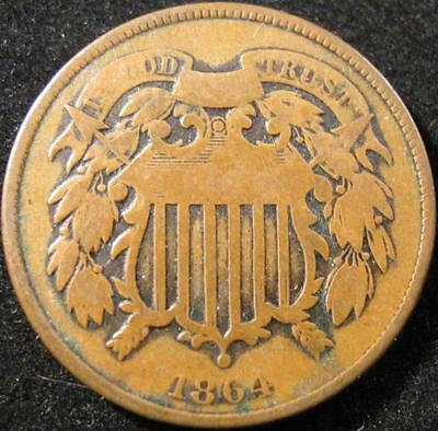 P878 - 1864 - Us - Two Cent Coin - Nr