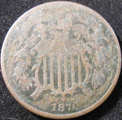 P877 - 1870 - Us - Two Cent Coin - Nr