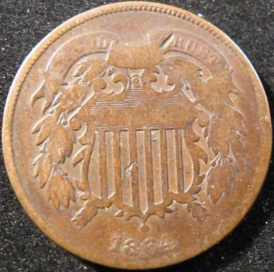 P876 - 1864 - Us - Two Cent Coin - Nr