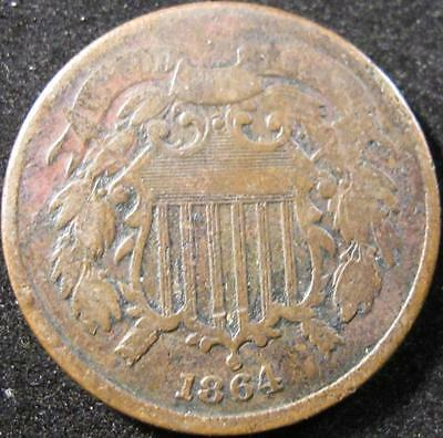 P875 - 1864 - Us - Two Cent Coin - Nr