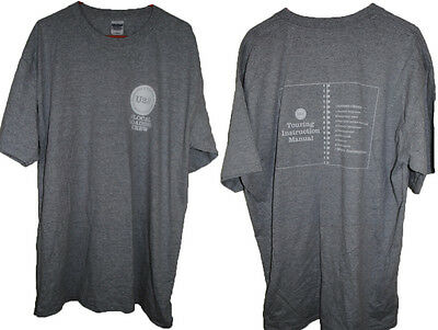U2 Local Loading Crew How To Dismantle a Touring Production T-Shirt XL Gray