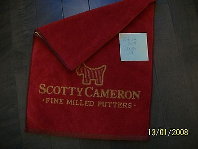 Scotty Cameron red/yellow towel