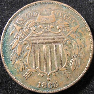 P868 - 1865 - Us - Two Cent Coin - Nr