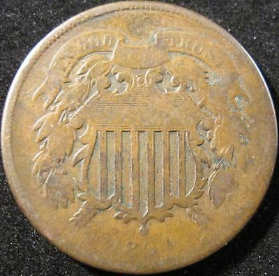 P863 - 1864 - Us - Two Cent Coin - Nr