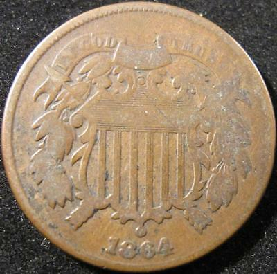 P860 - 1864 - Us - Two Cent Coin - Nr