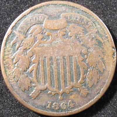 P858 - 1862 - Us - Two Cent Coin - Nr