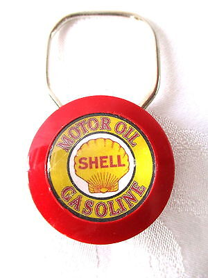 **Vintage SHELL OIL COMPANY GASOLINE KEY CHAIN - Exc Condition**