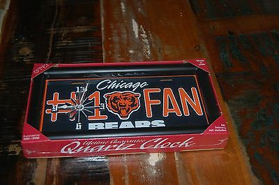 Chicago Bears Quartz Clock~Brand New~Framed Clock~Hang Or Stand~Made In Usa~
