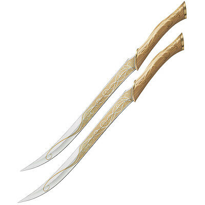 UNITED CUTLERY The Hobbit: Fighting Knives Of Legolas Prop Replica NEW - SEALED
