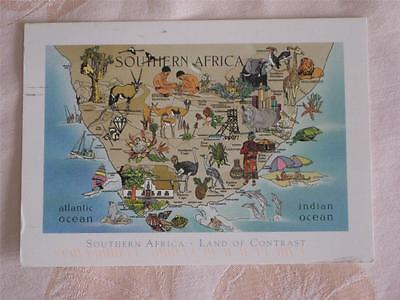 Cont. Pc Map Type Card Of South Africa, Used In 2007, With South Africa Stamp