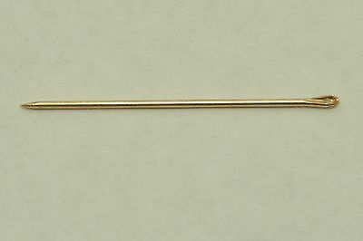 Vintage 14k Yellow Gold Sewing Needle