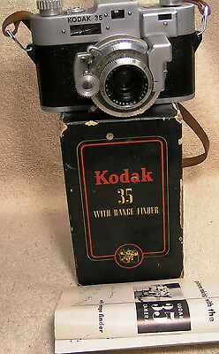 Antique Kodak 35 With Range Finder Camera 50 MM Lens 4 Element f 3.5 Heavy