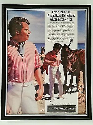 B3G1 Sears Men's Playboy Fashion Original Full Page Ad Vintage 1968 60s FRAMED!