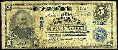 $5.00 1902 First National Bank & Trust Co Frackville PA **LOOK** NO RESERVE