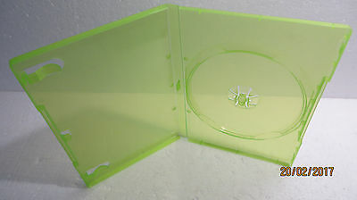Clear Transparent Neon Green Xbox 360 Replacement Cases 14mm