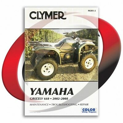 2002-2008 Yamaha YFM660 F Grizzly 660 Repair Manual Clymer M285-2 Service Shop