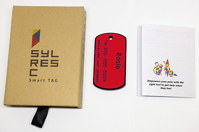 New Customized High Tech Pet Tag - Send Message to People Close to Your Lost Pet